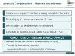 voluntary compensation maritime endorsement