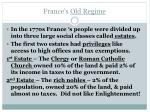 france s old regime
