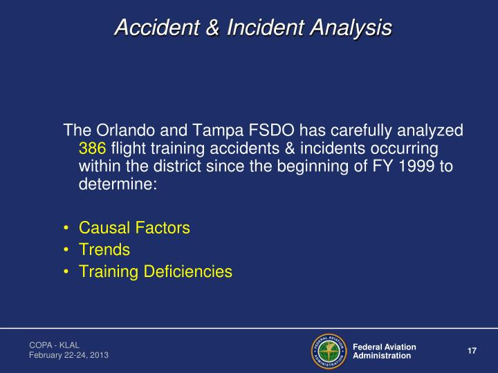 Accident & Incident Analysis