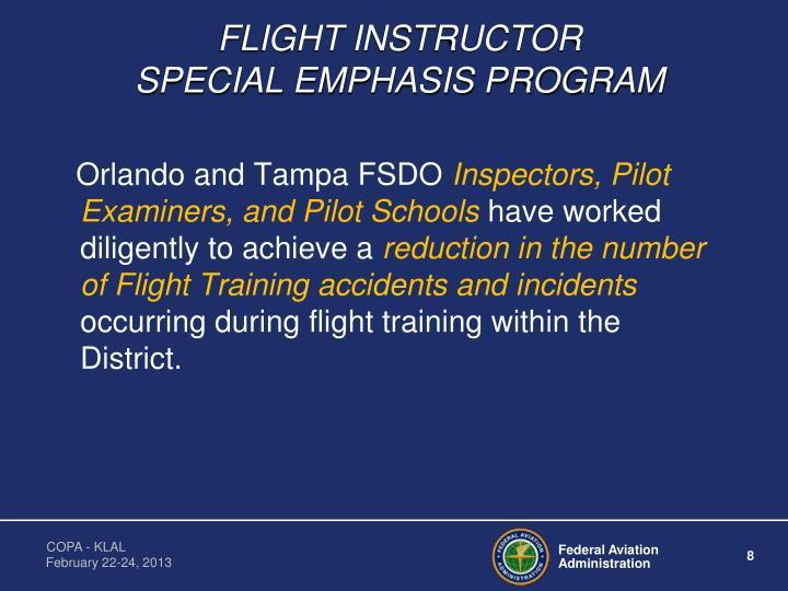 FLIGHT INSTRUCTOR                      SPECIAL EMPHASIS PROGRAM