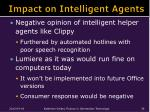 impact on intelligent agents