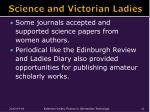 science and victorian ladies