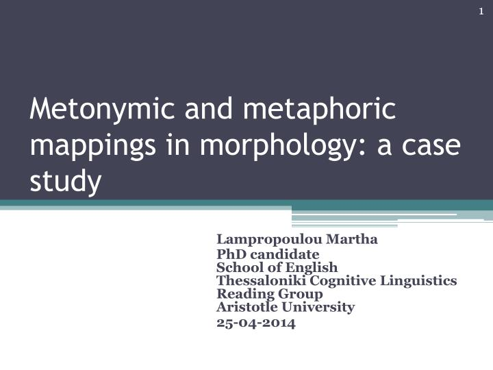 metonymic and metaphoric mappings in morphology a case study n.