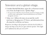 television and a global village