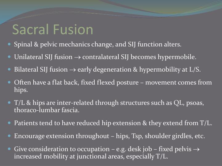 Sacral Fusion
