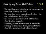 identifying potential elders 1 5 9