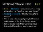 identifying potential elders 1 5 93
