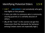 identifying potential elders 1 5 94