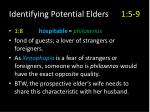 identifying potential elders 1 5 95
