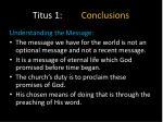 titus 1 conclusions