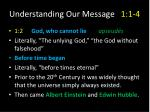 understanding our message 1 1 4