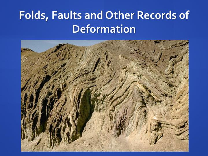 folds faults and other records of deformation n.
