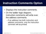 instruction comments option