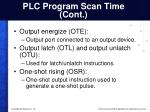 plc program scan time cont
