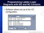 programming ladder logic diagrams with no and nc contacts