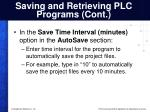 saving and retrieving plc programs cont1