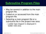 subroutine program files
