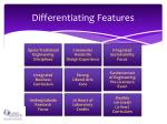differentiating features