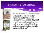 engineering versatilists