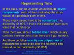 representing time1
