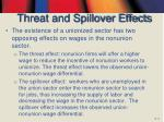threat and spillover effects