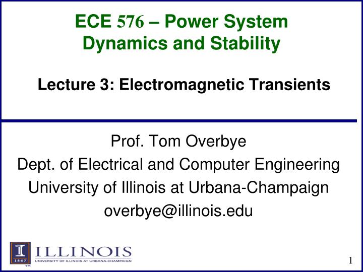 ece 576 power system dynamics and stability n.