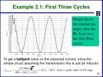 example 2 1 first three cycles1