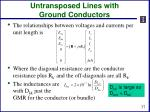 untransposed lines with ground conductors2