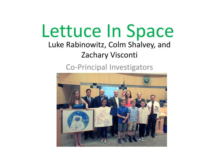 lettuce in space n.