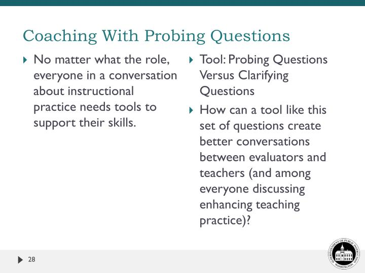 Coaching With Probing Questions