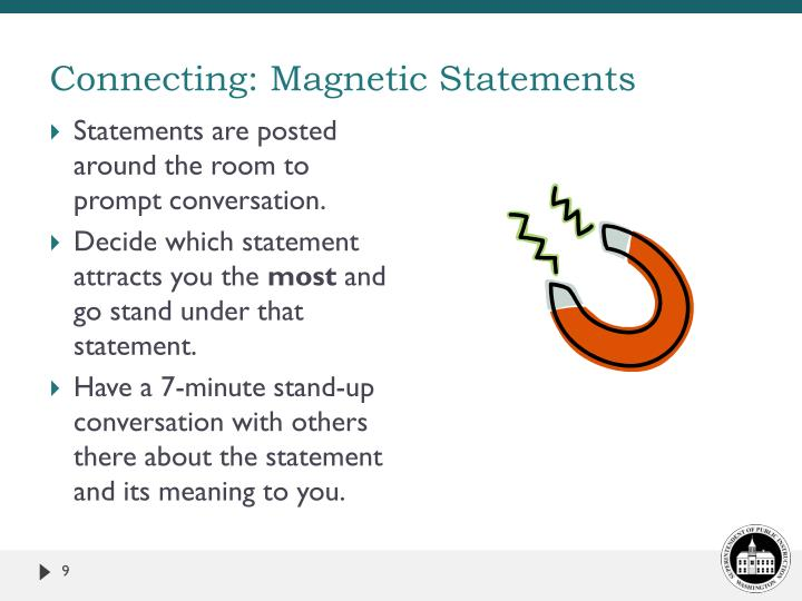 Connecting: Magnetic Statements