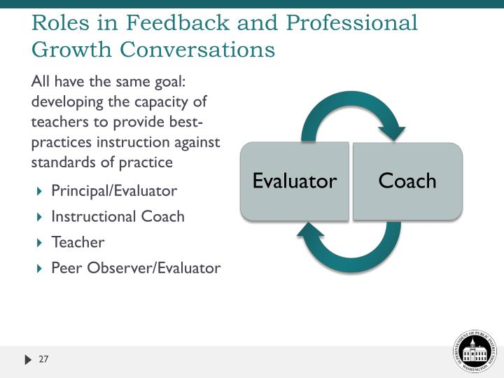 Roles in Feedback and Professional Growth Conversations