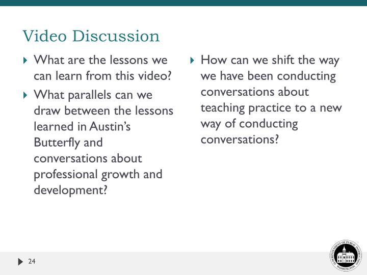 Video Discussion