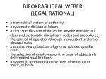 birokrasi ideal weber legal rational