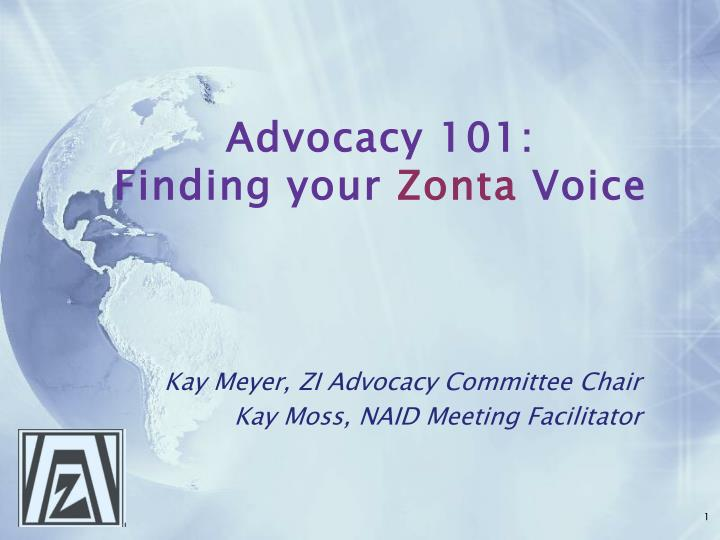 advocacy 101 finding your zonta voice n.