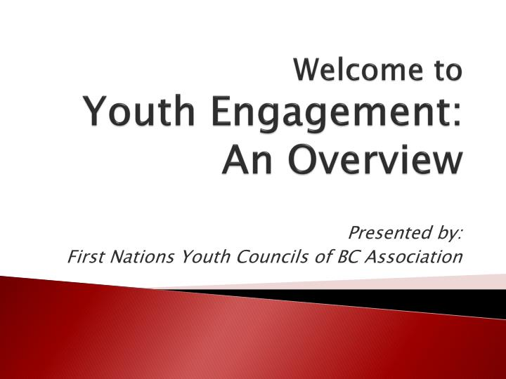 welcome to youth engagement an overview n.