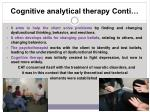 cognitive analytical therapy conti