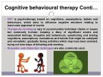 cognitive behavioural therapy conti