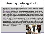 group psychotherapy conti
