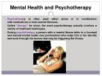 mental health and psychotherapy