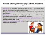 nature of psychotherapy communication