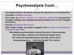 psychoanalysis conti