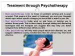 treatment through psychotherapy