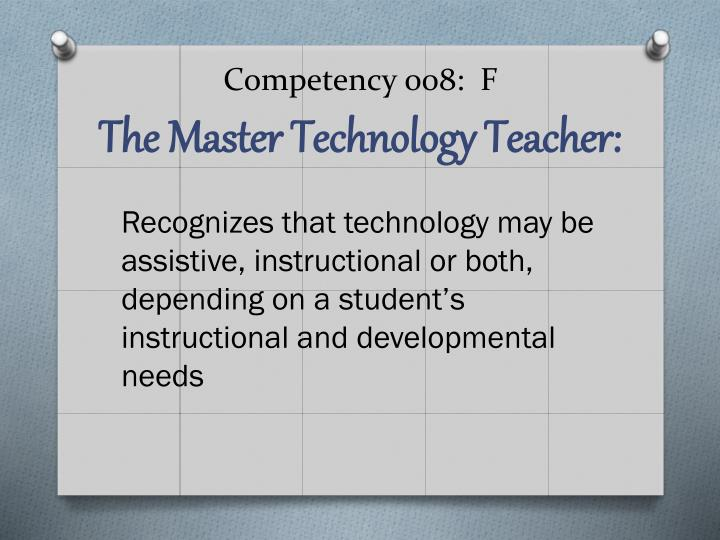 Competency 008:  F
