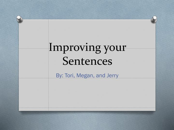 improving your sentences n.