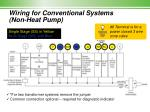 wiring for conventional systems non heat pump