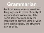 grammarian
