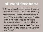 student feedback1