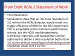 from draft hcal j statement of work