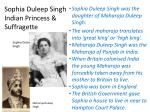 sophia duleep singh indian princess suffragette